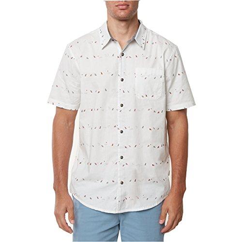 O'Neill Men's Jack Single Fin Shirts,Medium,Off White (Wht Fin)