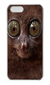 Big Face Tarsier Custom PC Case Cover for iPhone 5 and iPhone 5s Transparent