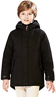 SOLOCOTE Boy Shower Resistant Hooded Jacket Casual Padded Parka Winter Coat