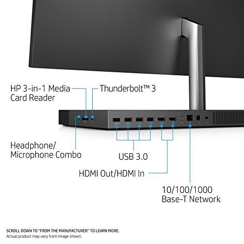 HP ENVY 27-inch All-in-One Computer, Intel Core i7-7700T, NVIDIA GeForce GTX 950M, 16GB RAM, 1TB hard drive, 256GB SSD, Windows 10 (27-b120, Ash Silver) by HP (Image #3)