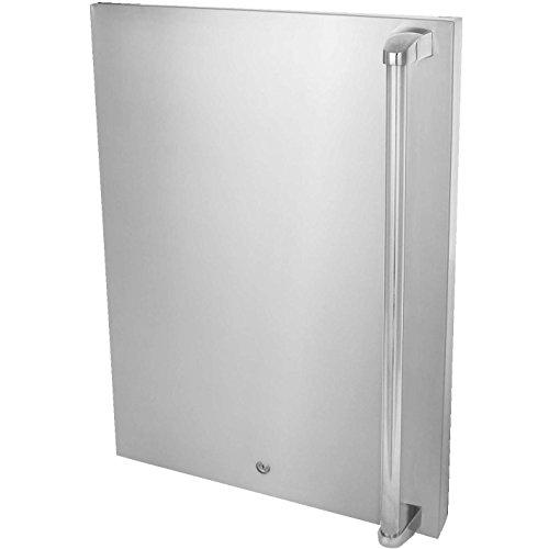 Blaze Left Hinged Stainless Steel Door Upgrade (BLZ-SSFP-4-5LH), by Blaze