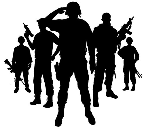 Newclew Military Army Marines Navy Veteran Hero Support Our Troops Vinyl Wall Decal Boys Bedroom Wall Decal Sticker Decor