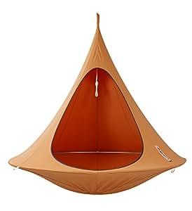 Cacoon double fauteuil suspendu orange mango - Fauteuil oeuf suspendu ikea ...