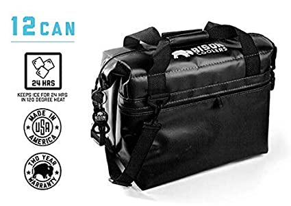 0b9cd874f9c8 BISON COOLERS Soft Sided Insulated 12 Can Cooler Bag   Leak Proof Ice Chest  for Beverages or Food   Includes 2 Year Warranty   Made in The USA