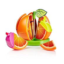 Mustard Fruity Highlighters - Orange - Set of 6 Coloured Highlighter Pens.