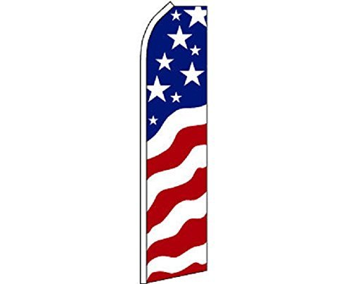 USA New Glory Feather Flag, American Business Flag (Flag Only) ()