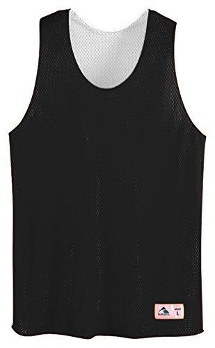 - Augusta Sportswear Tricot Mesh Reversible Tank, Large, BLACK/WHITE
