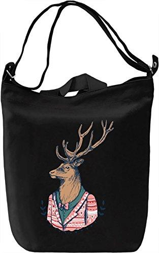 Boho deer Borsa Giornaliera Canvas Canvas Day Bag  100% Premium Cotton Canvas  DTG Printing 