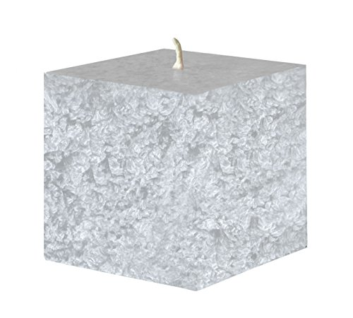 Amabiente – Cube Candles Midicube Decorative Candles, silver grey, 8 x 8 x 8 cm by AMABIENTE - Designcandles