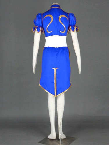 Street Fighter II Cosplay Costume - -Chun-Li 1st Blue Kid Large by Dream2Reality (Image #5)