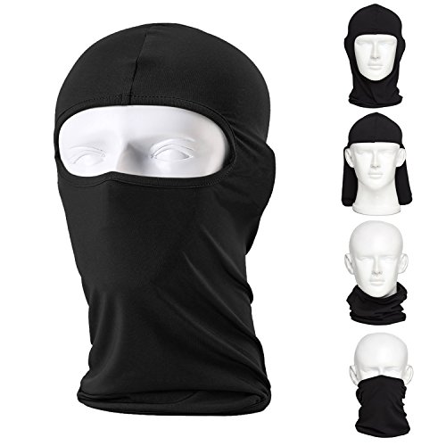 CAILEK Balaclava Ski Mask – Small - Black, 2-Pack Fluid Womens Skis