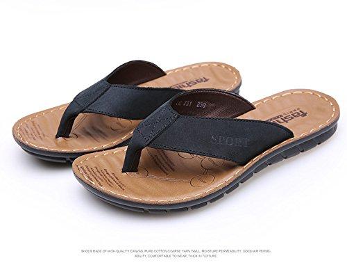 Lässig, Komfort, Mode, Sommer, Männer - Pantoffeln, Flip - Flops, Beach Sandals,Schwarz,Eu44