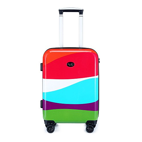 Kiss 20-inch Hardside Carry-on Spinner Luggage, TSA-Approved Lock, Hard-Case, Rolling Suitcase