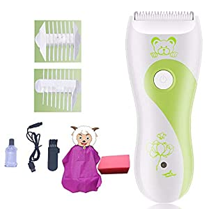 Gobesty Baby Children Hair Clippers, Waterproof Rechargeable Quiet Electric Hair Trimmer with Guide Combs Cordless…