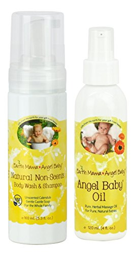 Earth Mama Angel Baby Non-Scented Shampoo and Body Wash with Baby (Angel Scented Shower Gel)