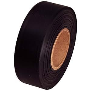 """Flagging Tape 1-3/16"""" Non-Adhesive Plastic Ribbon, Black"""