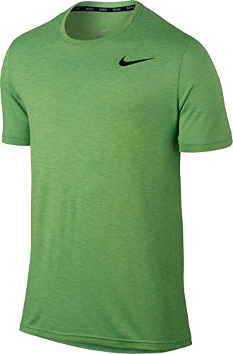 Nike Mens Breath Short Sleeve Training Top Ghost Green/Black 624314-367 Size 2X-Large