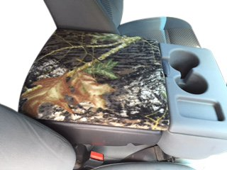 Auto Console Covers- Compatible with The Ford F-150 Truck 2002-2019 Center Console Armrest Cover Fleece. Mossy Oak