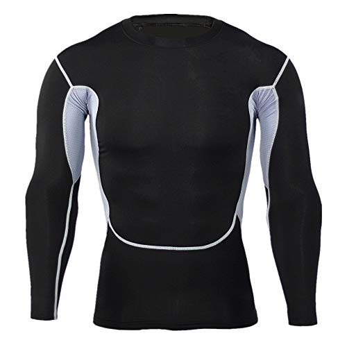 WUAI Deals, Mens Casual Shirts Camo Print Lightweight Crewneck Muscle Bodybuilding Sportswear Tops(Black,US Size XL = Tag 2XL)