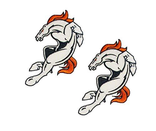 "NFL Denver Broncos Bucking Bronco Embroidered Patch 4 1/4"" X 2 3/8"""