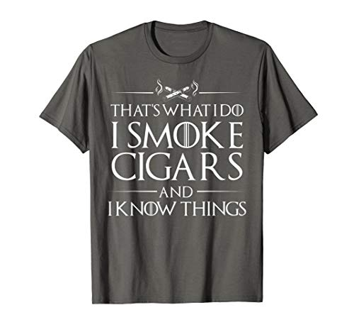 Smoke Cigars Smoker Shirt - Ideal Clever Class Men Gift (Del Monte Glas)