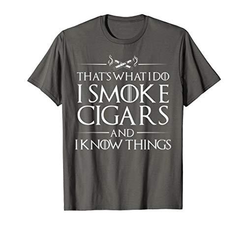 (Smoke Cigars Smoker Shirt - Ideal Clever Class Men Gift)