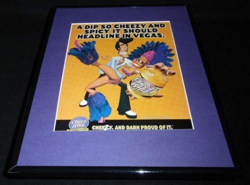 2000-kraft-cheez-whiz-framed-11x14-original-vintage-advertisement