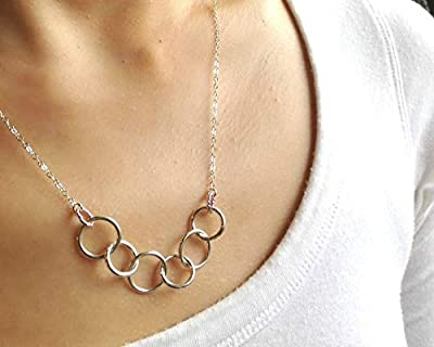 Efy Tal Jewelry Happy 60th Birthday Gifts For Women Necklace Sterling Silver 6 Rings Six Decades Necklaces Gift Ideas