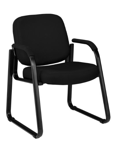 OFM 403-805 Reception Chair with Arms – Fabric Guest Chair, Black