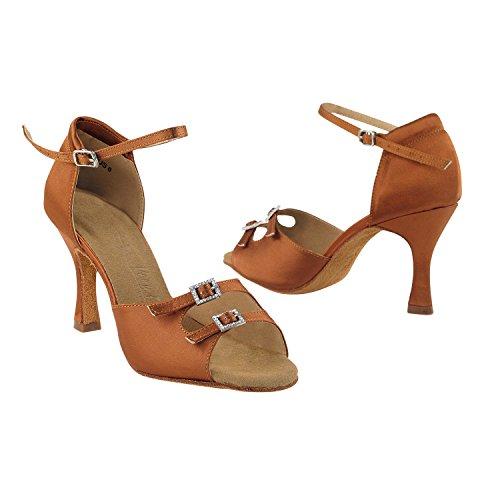 50 Collection Dress Shoes Tan Salsa of Shades TAN Dance Club Wedding Dark Satin Ballroom 1620 I pqUpxr