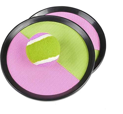 HR MERCHANDISE Durable Toss & Catch Ball Game with Disc Paddles&Ball for Child or Adult- Perfect for Indoor& Outdoor, Traveling, Backyard, Garden, Beach, Park, School, Lakes