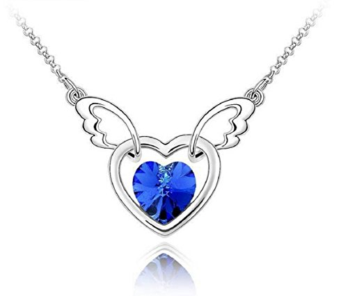 Yuriao Jewelry Elegant Fashion Soul Angel Crystal Pandent Necklace£¨deep - Card Seattle Kingdom