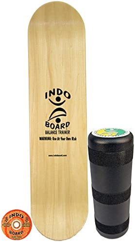 INDO BOARD Kicktail Pro Advanced Balance Board for Surfers, Skaters, Wakesurfers, Snowboarders – 39 Long Deck with 6.5 Roller