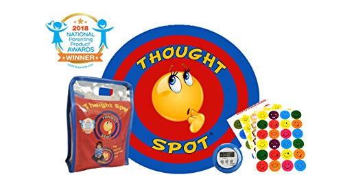 Thought-Spot - A Portable Parenting Time Out Mat with Digital Timer & Reward Stickers - 24 Inch Diameter Made from Recyclable Non-Toxic Materials)