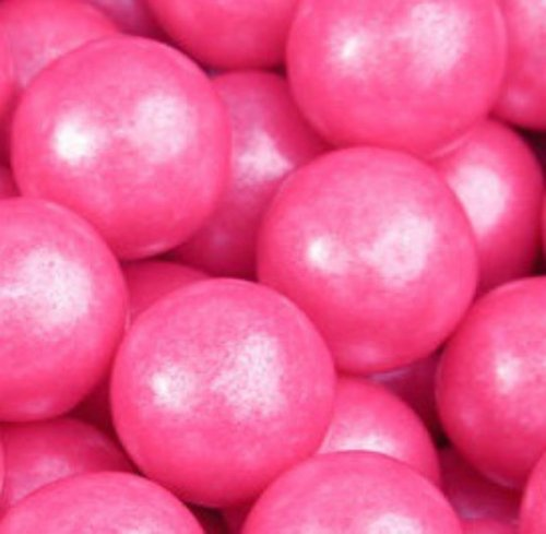 Shimmer Pearlescent Bright Pink 1 Inch Gumballs 1LB Bag ()