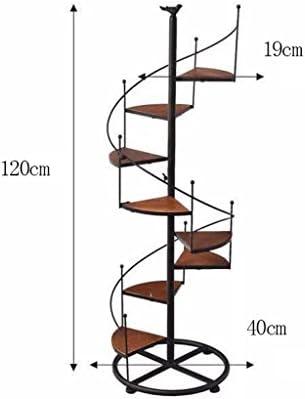 QFF Style européen et américain en bois massif Fer à repasser rétro Flower Multifonction à plusieurs étages Balcon Salle de séjour Plus de viande Landing Flower Pot Rack Flower stand