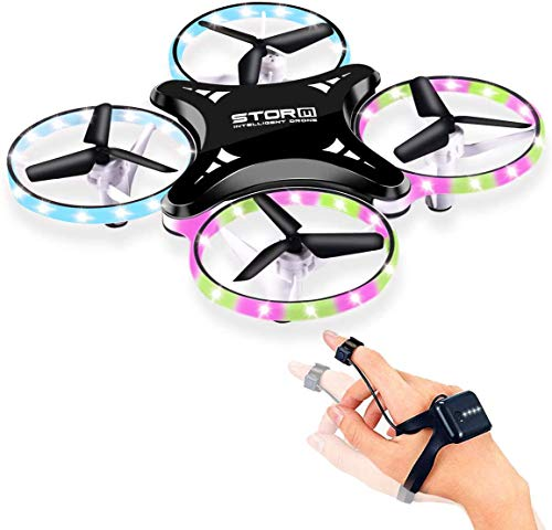 ARESAT Mini Drone, Remote Control Quadcopter, Auto Hovering, 2 Rechargeable Batteries, Kids and Beginners
