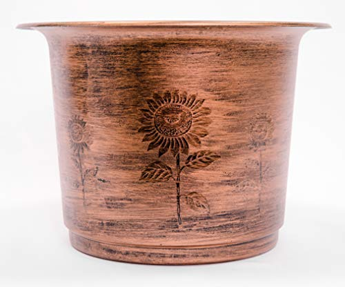 (Faded Sunflower Design Rugged Rustic Country Look Plastic Planter 12X8
