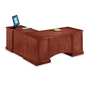 DMi Belmont Right Executive L Shaped Desk   Brown Cherry