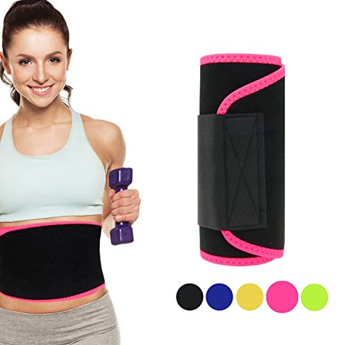 Tagefa Waist Trimmer, Best Abdominal Waist Trainer, Slim Body Belt, Slimmer Kit, Weight Loss Wrap, Stomach Fat Burner, Low Back and Lumbar Hip Support, Workout Sweat Enhancer Exercise for Men ()