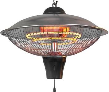 1500 W Lámpara estufa de infrarrojos para colgar (Carbon lámpara: Amazon.es: Jardín