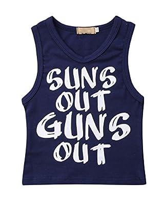 Greenafter Toddler Boys Sun's Out Guns Out Tank Top Sleeevless T Shirt