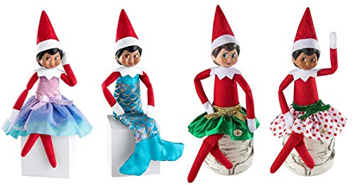 The Elf on the Shelf Girl Outfit Set - Princess Pastel, Mermaid, and Party Skirt Pair - 2019 Outfit Value Pack