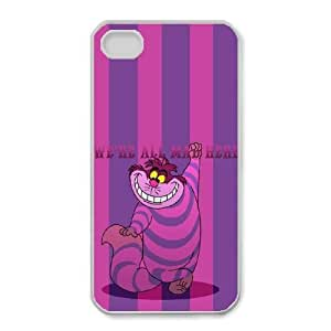 iphone4 4s White phone case Disney characters Alice in Wonderland DSN9682382