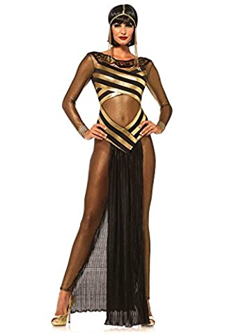 Leg Avenue Women's 3 Piece Goddess Isis Costume, Gold/Black, Small