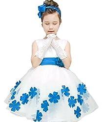 Tortor 1bacha Tulle Bowknot Wedding Flower Girl Dress Red 7-8 Years