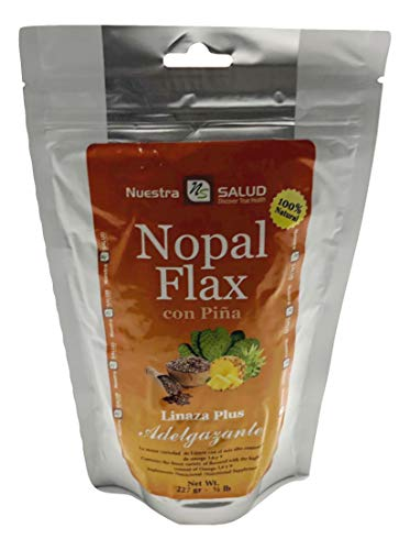 Nopal Flax with Pineapple Linaza Plus Adelgazante 227g Travel Size
