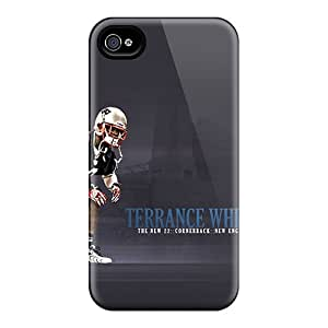 Anti-Scratch Cell-phone Hard Cover For Iphone 4/4s With Customized Colorful New England Patriots Pictures JamesKrisky
