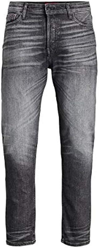 JACK & JONES Male Tapered Fit Jeans FRED ORIGINAL JOS 725 STS: Odzież