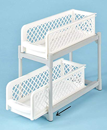 (Miles Kimball Portable 2-Tier Sliding Shelves)